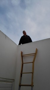 That's me up there on the roof.